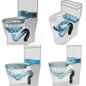 انواع سیستم تخلیه توالت فرنگی