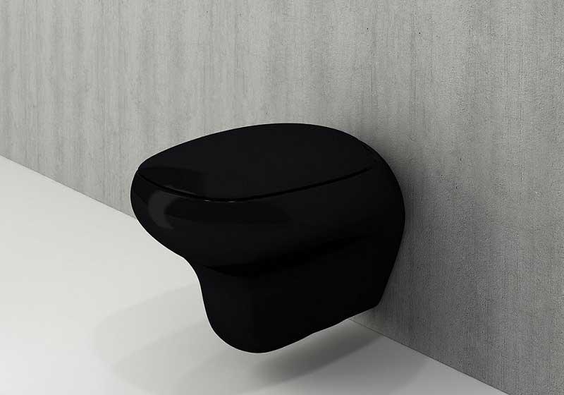 توالت فرنگی دیواری مشکی Bocchi مدل Fenice