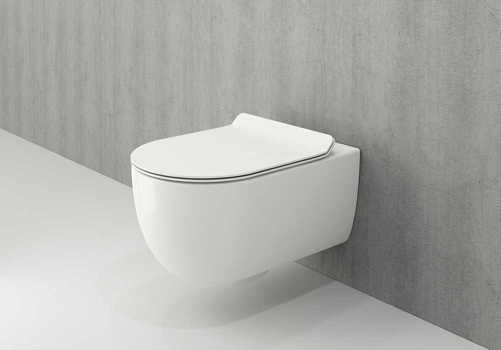 توالت وال هنگ مشکی Bocchi مدل V -Tondo
